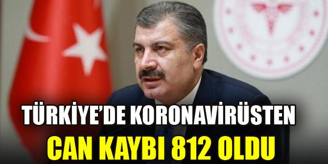 Türkiye'de koronavirüsten hayatını kaybedenlerin sayısı 812'ye yükseldi