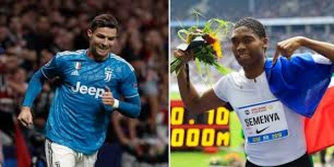 Semenya, Ronaldo'yu solladı