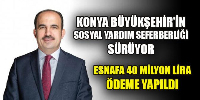 Konya Büyükşehir'in sosyal yardım seferberliği sürüyor