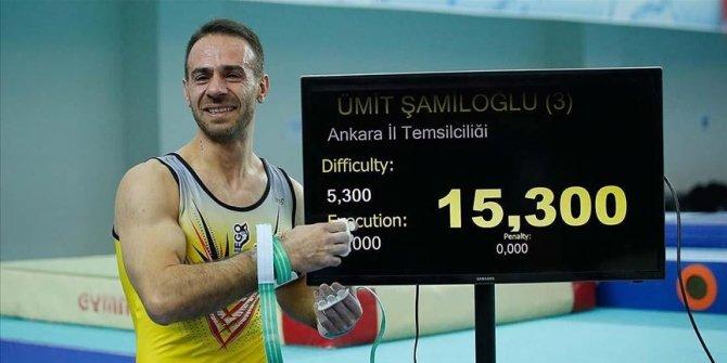 Milli cimnastikçi Şamiloğlu'nun altın madalya sevinci
