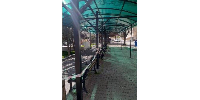 Kızılcahamam'daki parklarda koronavirüs tedbirleri ve bahar bakımı