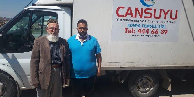 Cansuyu Derneği Ilgın'da Ramazan ayı öncesi gıda yardımı yaptı