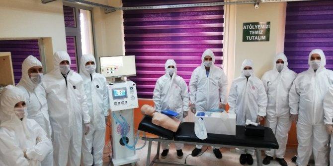 Hatay'da teknik lisede solunum cihazı üretildi
