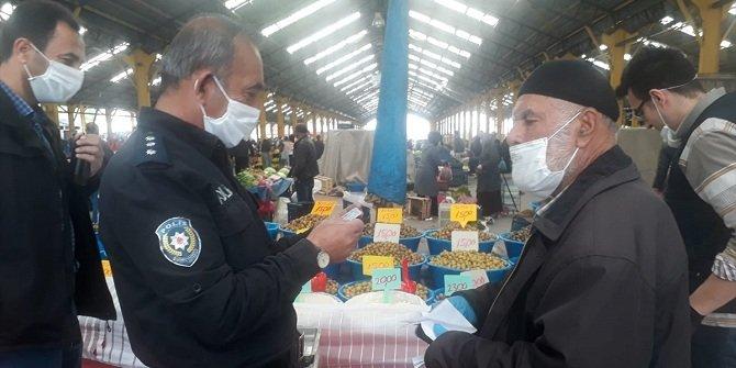 Konya'da Kovid-19 tedbirlerine uymayan 5 kişiye para cezası verildi