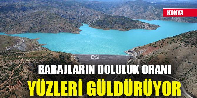 Konya'daki barajların doluluk oranı yüzleri güldürüyor