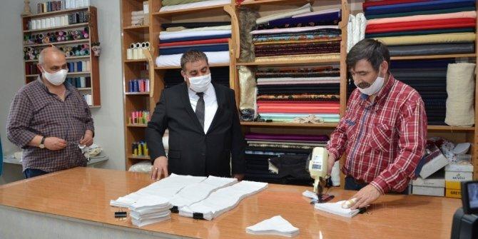 Palandöken Belediyesi'nden Maske üretimi