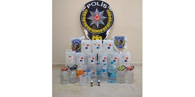Gümüşhacıköy'de 85 litre kaçak içici ele geçirildi