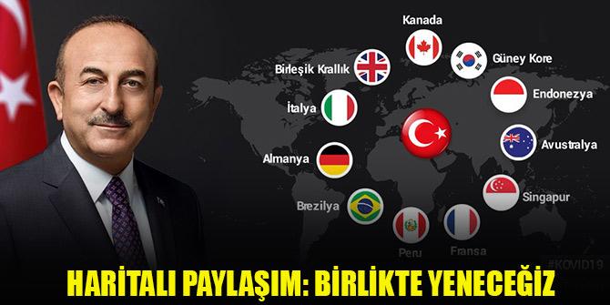 Bakan Çavuşoğlu'ndan haritalı paylaşım: Birlikte yeneceğiz