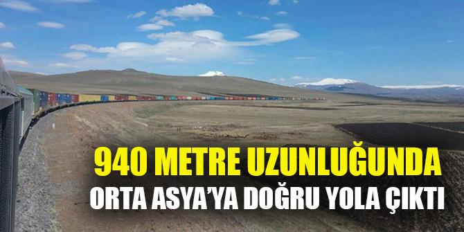 """940 metre uzunluğundaki """"Dev ihracat treni"""" Orta Asya'ya doğru yola çıktı"""