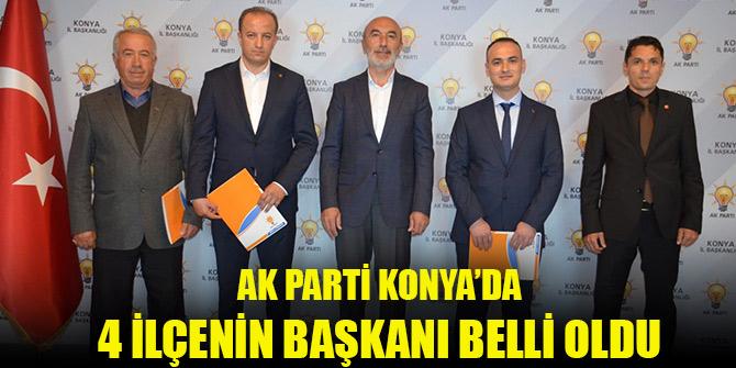 AK Parti Konya'da 4 ilçe başkanının ataması yapıldı