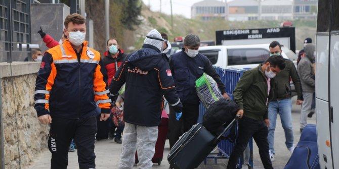 Eskişehir'de Irak'tan getirilerek karantinaya alınan 250 kişinin tahliye işlemi yapıldı