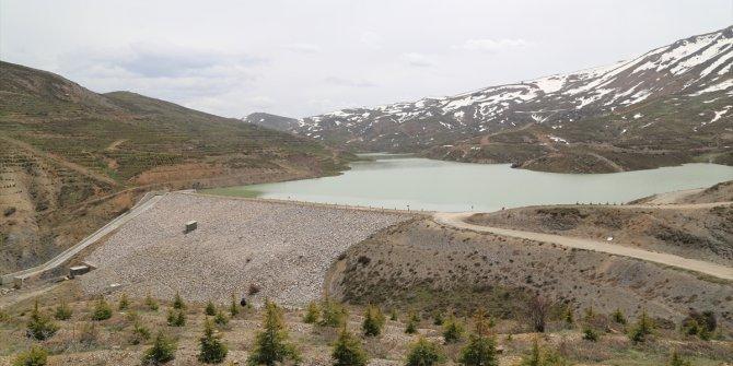 Hadim'de sulama göletleri doldu