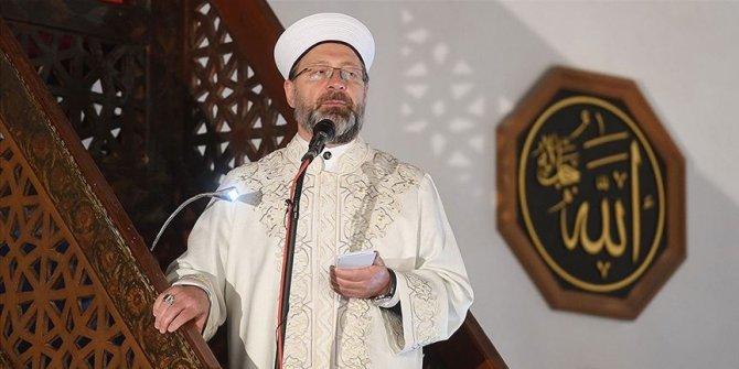 Ramazanın ilk cuma namazını Diyanet İşleri Başkanı Erbaş kıldırdı