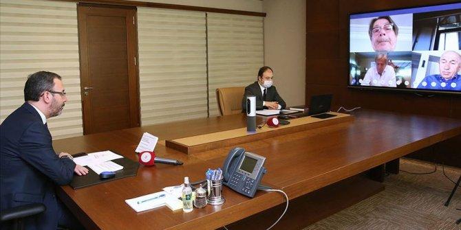 Bakan Kasapoğlu'nun TFF ve Süper Lig kulüp başkanlarıyla toplantısı başladı
