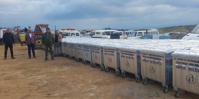 Çevre ve Şehircilik Bakanlığından Hüyük'e çöp konteyneri desteği