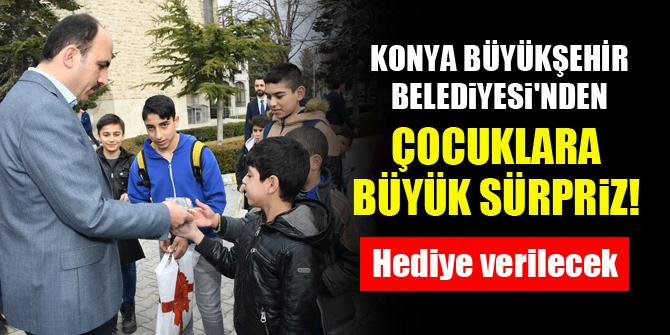 Konya Büyükşehir Belediyesi'nden çocuklara büyük sürpriz! Hediye verilecek