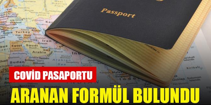 Aranan formül bulundu: Covid pasaportu