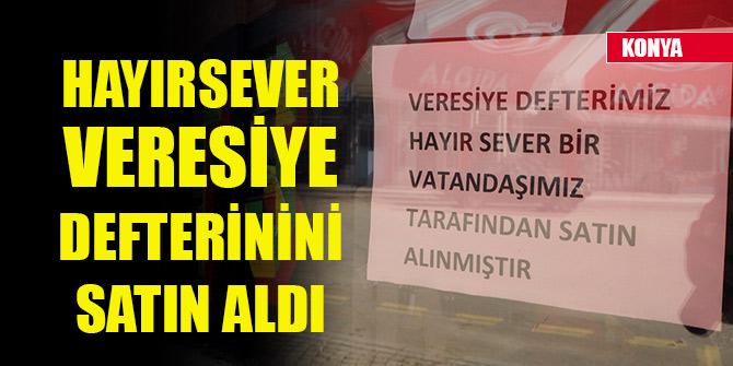 Konya'da bir hayırsever, marketin veresiye defterindeki borçları ödedi