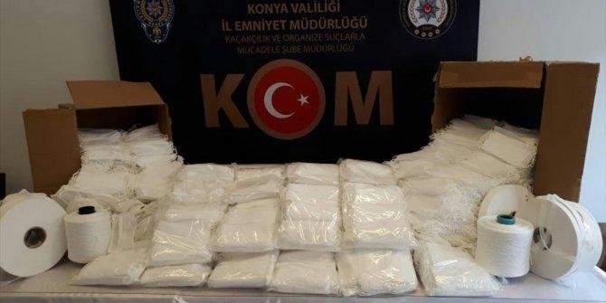 Konya'da izinsiz üretilen 17 bin maske yakalandı