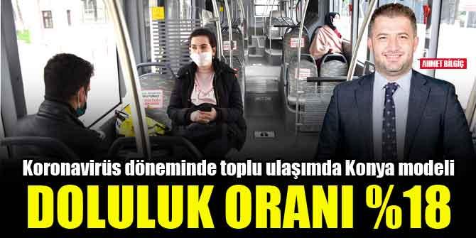 Koronavirüs döneminde toplu ulaşımda Konya modeli, doluluk oranı %18