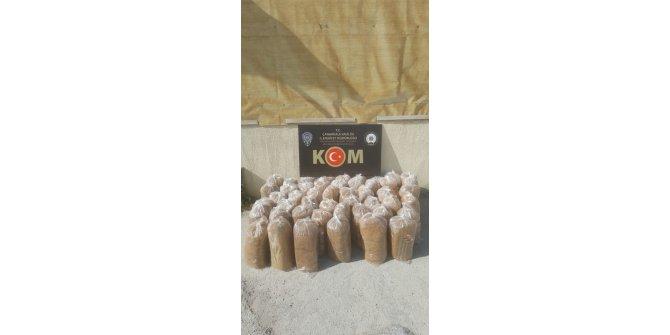 Çanakkale'de 140 kilogram tütün ele geçirildi