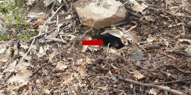 Teröristler helikopterin iniş bölgesi ile sığınakların girişlerine patlayıcı tuzaklamış