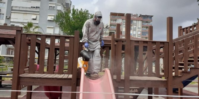 Sokağa çıkma kısıtlamasında Kepez dezenfekte edildi