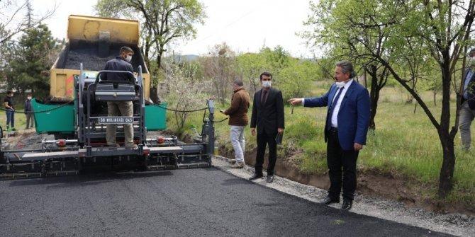 Melikgazi Eğribucak'ta 5 sokakta çalışma yaptı