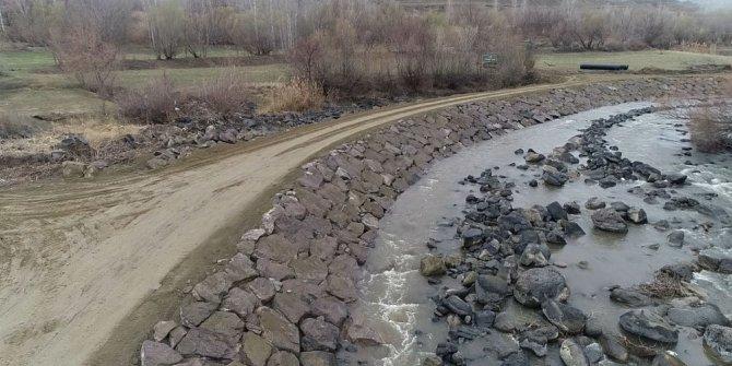 Kars'ta DSİ köylülerin arazileri ile ülke toprak kaybını önlendi