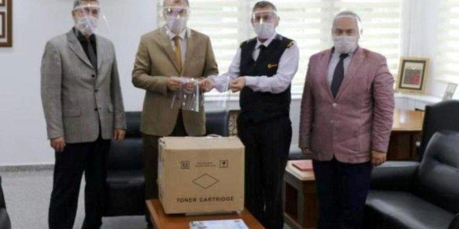 Aydın BİLSEM'de üretilen 400 siperlik jandarmaya teslim edildi