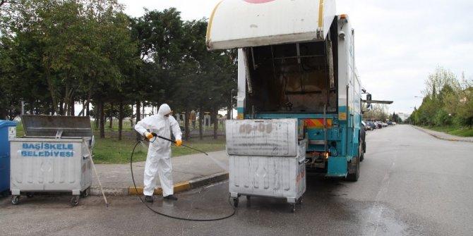 Başiskele'de çöp ve geri dönüşüm konteynerleri yenileniyor