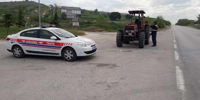 Jandarmadan tarımsal faaliyette bulunan zirai araçlara denetim
