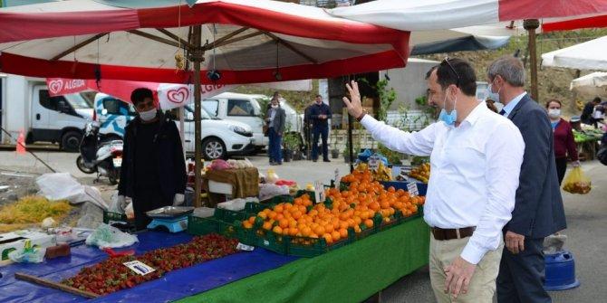 Başkan Yüksel, pazarcı esnafını ziyaret etti