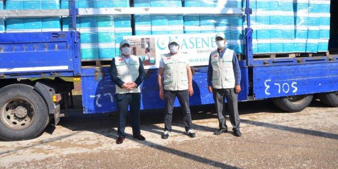 Ordu'ya 7 bin 500 koli yardım