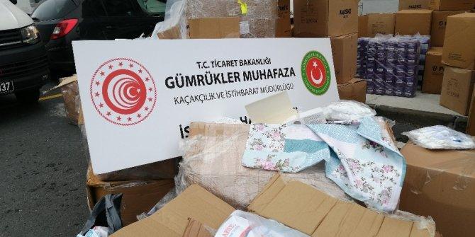 İstanbul'da 554 bin 170 adet tıbbi maske ele geçirildi