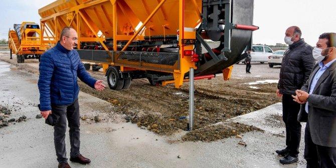 """Başkan Kavuş: """"Yeni alınan makinelerle asfaltta dışa bağımlılığımız bitiyor"""""""
