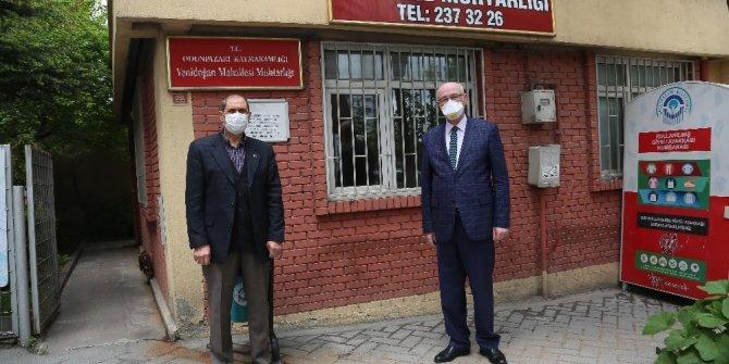 Kazım Kurt'tan Yenidoğan Mahalle Muhtarı Sabit Körpe'ye geçmiş olsun ziyareti