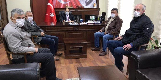 Gazeteciler Kaymakam Vedat Yılmaz'ı ziyaret ettiler