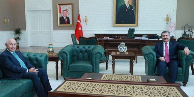 Sağlık Bakanı Fahrettin Koca TFF Başkanı Nihat Özdemir ile görüştü