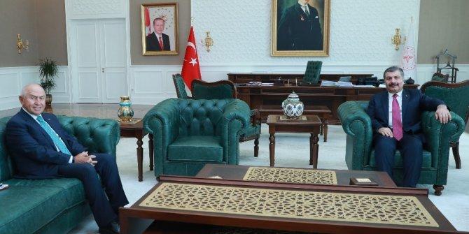 Sağlık Bakanı Koca,  TFF Başkanı Özdemir ile görüştü