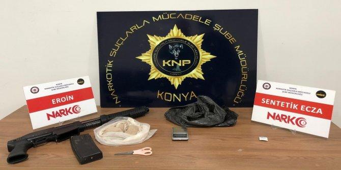 Konya'da uyuşturucu operasyonunda 7 zanlı gözaltına alındı