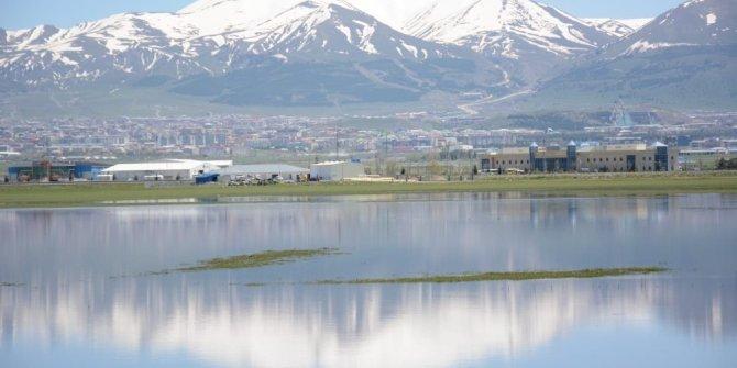 Erzurum ovası göle dönüştü