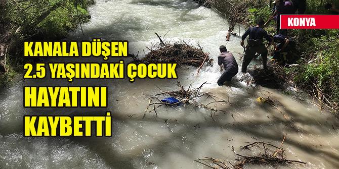 Konya'da kardeşiyle oynarken kanala düşen 2.5 yaşındaki Ömer hayatını kaybetti