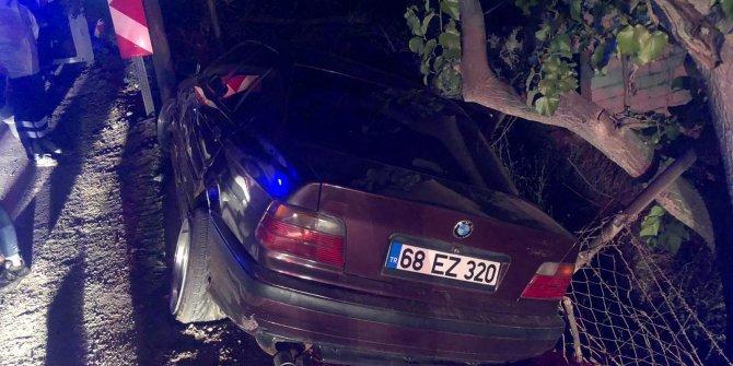 Otomobil şarampole devrildi, alkollü sürücü ile yanındaki kişinin burnu bile kanamadı