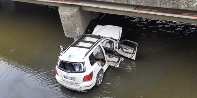 Köprüden düşen cipin sürücüsü yaşamını yitirdi