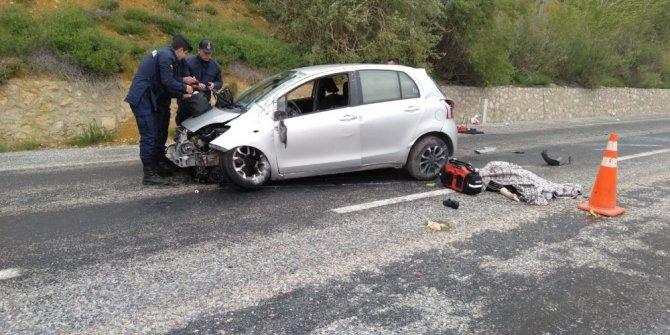 Kayseri-Kahramanmaraş yolunda kaza: 1 ölü, 2 yaralı