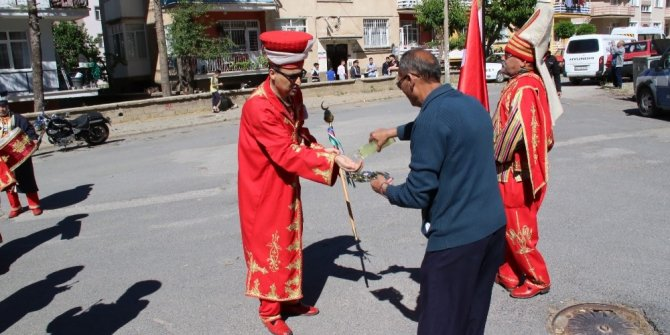 Konya'da mehterli kutlama