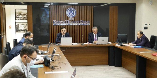 KTO'nun meclis toplantısı video konferansla yapıldı