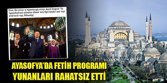 Ayasofya'da Fetih programı Yunanları rahatsız etti: Tahrik edici korona gösterisi...
