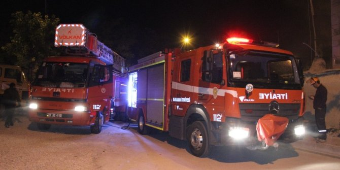 Karaman'daki yangında evdeki tüm eşyalar kullanılamaz hale geldi